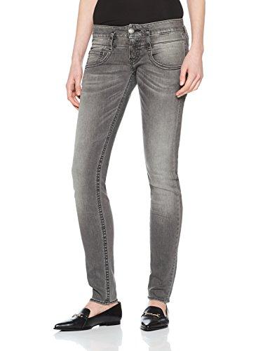 Herrlicher Damen Jeans Pitch Slim, Schwarz (Dark Ash 720), W27/L30