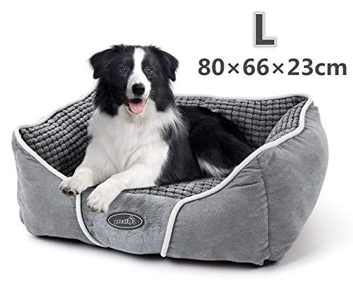 Pecute Hundebett Haustierbett für Katzen und Hunde Rechteck Ultra Weicher Plüsch luxuriöse Haustier-Schlafsack Maschine waschbar L (83 * 63 cm)