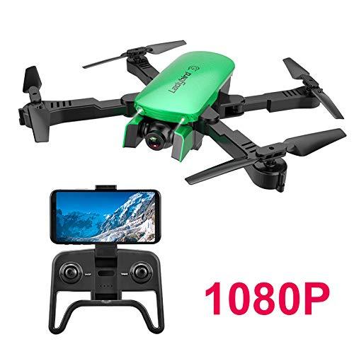 Adsvtech Drone WiFi FPV RC con Doppia videocamera HD 1080 per quadricoptero Pieghevole per Principianti, Bellezza Automatica, Fotografia gestuale, Volo traiettoria Verde