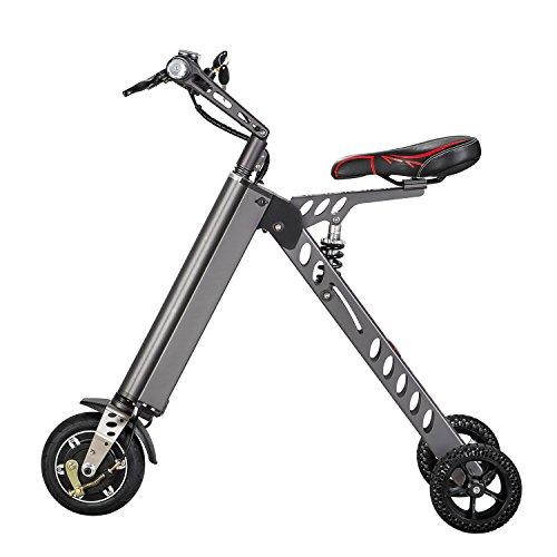 Mini-Vlo-lectrique-Tricycle-Intelligent--la-mode-Trottinette-Tricycle-lectrique-Vlo-lectrique-pliable-et-portablegris-vert-or