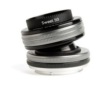 Lensbaby Composer Pro II W Sweet 50 Optic - Objetivo para Nikon (50 mm, f/2.5) Color Negro