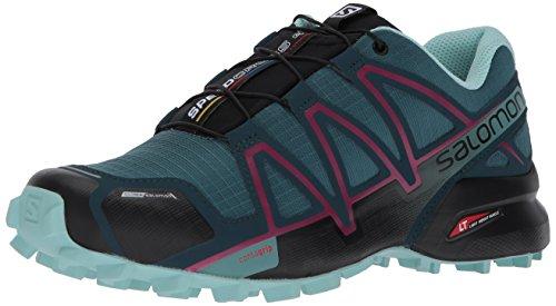 Salomon Speedcross 4 CS W, Zapatillas de Trail Running para Mujer, Azul (Mallard Blue/Reflecting Pond/Eggshell 000), 38 2/3 EU