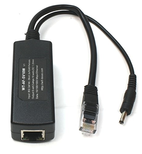 802.3af PoE Splitter per dispositivi Micro USB Como Raspberry Pi, Dropcam alimentazione a través de Ethernet a 328piedi di Poe Interruttore per USB con 10W di uscita wt-af-5V10W