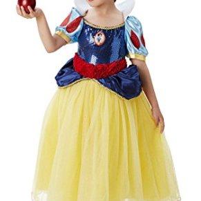 Princesas Disney - Disfraz de Blancanieves Premium para niña, infantil 3-4 años (Rubie's 620482-S)
