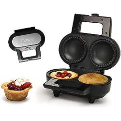 Pie-Maker Muffin-Maker für 2 Küchlein Waffeleisen gefüllte Kuchen Törtchen (sparsame 1000 Watt, antihaftbeschichtet + inkl. Rezeptvorschlag)