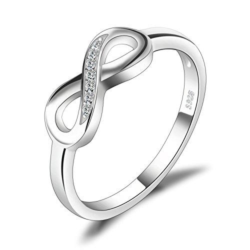 JewelryPalace Infinity Für Immer Liebe Zirkonia Jahrestag Ring Vertrauensring Damen Ring 925 Sterling Silber