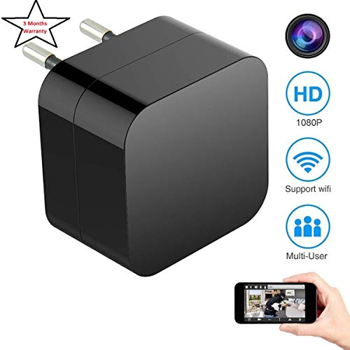 BLUELEX - 1080p HD USB WiFi Hidden Charger Camera, Supports 2 Mode Recording, Support 128GB MicroSD Card, Nanny cam |Home, Kids, Baby, Pet Monitoring