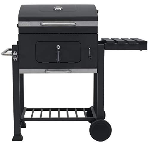 Tepro - Barbecue a carbone Toronto Click, modello 2019, antracite/acciaio INOX