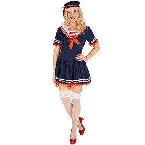 TecTake dressforfun Disfraz de Marinera para Mujer | Vestido Muy Dulce | Look Marinero Muy | Incl. Sombrero (S | no. 301424)