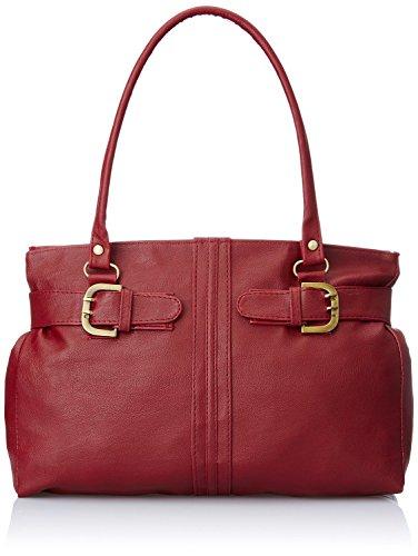Mammon women,s handbag(side-belt,36x20x10 CM) (Maroon)