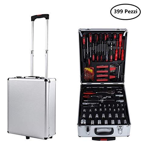 Set di attrezzi, Valigia degli attrezzi composta 399 pezzi set utensili attrezzi Strumenti Per Il...