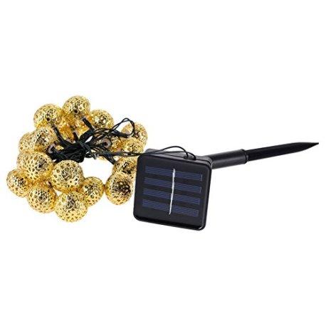 demiawaking-Solar-Power-20-LED-Jardin-Guirlande-lumineuse-pour-mariage-fte-Nol-Dcor
