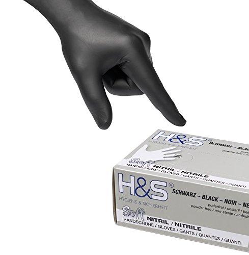 Guanti al Nitrile, scatola da 100 guanti, S Small M Medium L Large XL X-Large, senza polvere, senza...