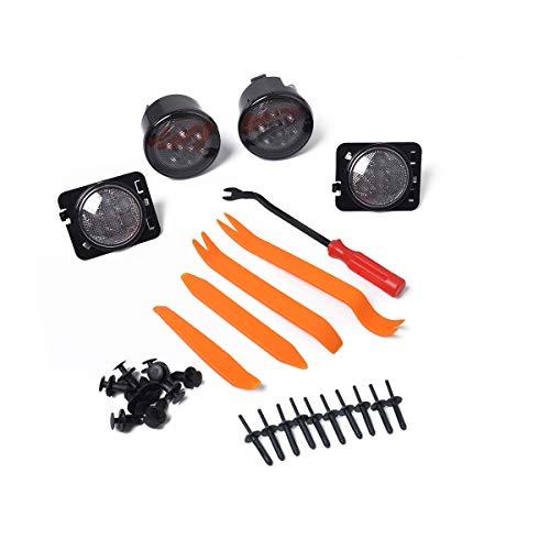 XuBa Ambra LED indicatori di direzione luci Smoke Lens + parafango Sidelight Strumento per Jeep...