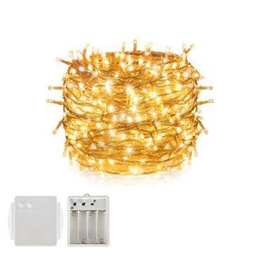 Batterie lumière LED Guirlande lumineuse à cordes, Tersely Guirlande lumineuse de Noël Garden Party Décoration de mariage (8modes d'éclairage, fonction de mémoire)