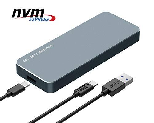 USB 3.1 Adattatore Esterno per NVMe M.2 SSD Disco Rigido - ElecGear NV-i9 Alluminio Enclosure...