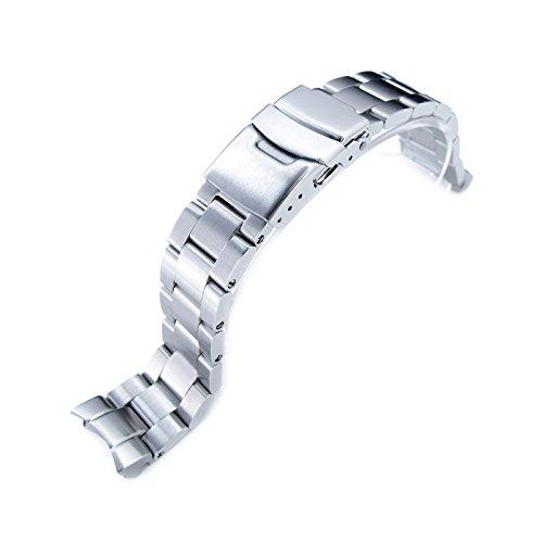 Seiko, cinturino Super Oyster 20mm, per per orologio Seiko SKX013, in acciaio inox spazzolato 316L, base
