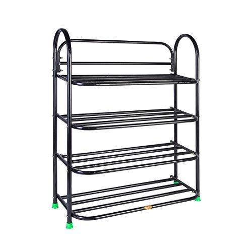 PATEL RAJ Metal Book Stand (Bsp Black,4 Shelves)