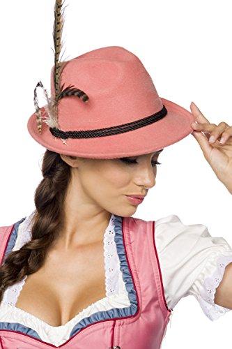 Trachtenhut Hut Tracht Trachten Oktoberfest München Kordel Hutkordel Blumen Bayern Dirndl Zubehör Kopfbedeckung in 5 Farben