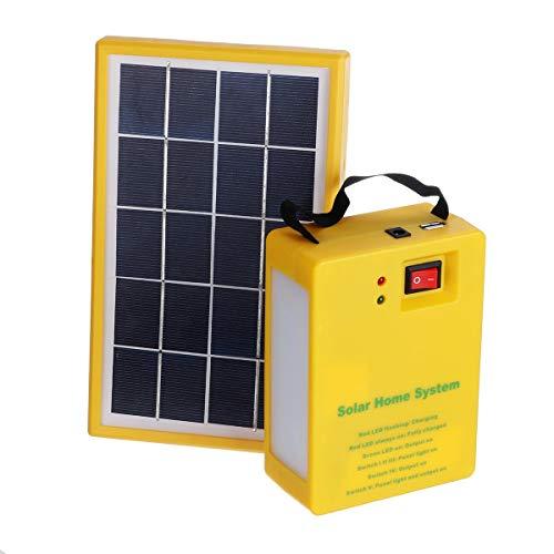 Ji Yun Sistema al Aire Libre Cargador Solar del USB 5V Home Kit Generador Panel con 2 Bombillas LED Los generadores de energía portátil