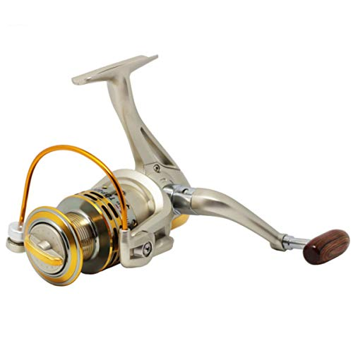 Nosii Mulinello da Pesca in Metallo 8BB 5.2: 1 Attrezzatura da Pesca Mulinello da Spinning Pesca in Mare 800-7000 (Color : 800)