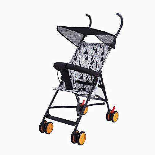 LIZONGFQ Passeggini per Bambini Ultraleggeri Passeggino A Quattro Ruote Parasole con Una Mano...