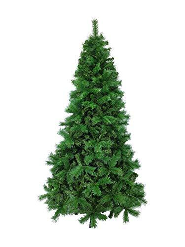 Totò Piccinni Albero di Natale BARDONECCHIA, FOLTO di QUALITA', Realistico, Due Tipi di Rami Ago e Foglie, Facile Montaggio a Ombrello, PVC, Base Metallica, Ignifugo (Colore Verde, 240)
