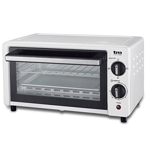 TM Electron Mini forno Tostapane 800W, 10L di capacità, 3modalità di riscaldamento bianco