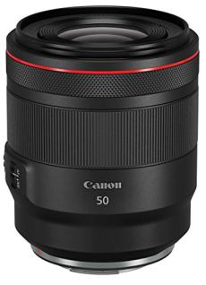 Canon - Objetivo RF 50mm f/1,2 L USM (Abertura f/1,2, Enfoque mínimo de 0,40 m, Motor USM, Abertura de 10 Hojas, Serie L) Negro
