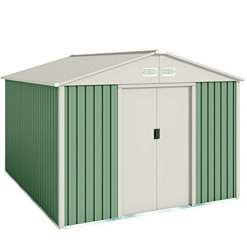Wolder Brico Gälliv G01ME0011 - Caseta metálica de jardín para el almacenaje exterior con espacio de 7,86 m2