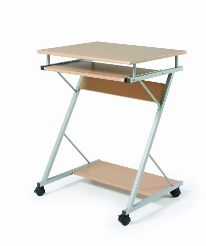 Due-home Mesa de ordenador mesa pc, madera color natural