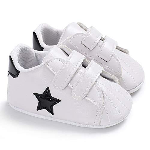 Scarpe da culla per bambini Sneakers da bambino Prewalker per neonati a forma di stella premium per neonati appena nati (Color : Black, Size : 3-6 Months)
