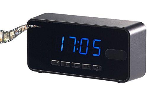 OctaCam Spy Cam: 4in1-Tischuhr mit Full-HD-Kamera, Wecker, Thermometer, Nachtsicht, PIR (Uhr mit Kamera)