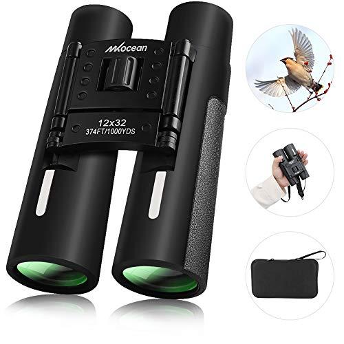 Binocolo Professionale Leggero Binoculare, 12 x 32 Portatile HD Binocolo Impermeabile con...