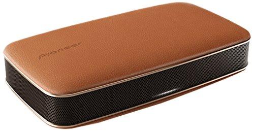Pioneer FREEme XW-LF3-T portabler Bluetooth Lautsprecher (360 Grad Sound-Design, Echt-Leder Oberfläche NFC, integrierter Akku) braun