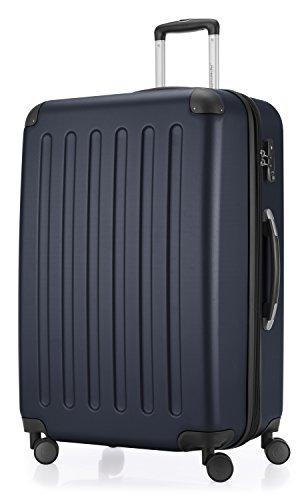 HAUPTSTADTKOFFER - Spree - 3er Koffer-Set Trolley-Set Rollkoffer Reisekoffer Erweiterbar, TSA, 4 Rollen, (S, M & L), Dunkelblau - 4
