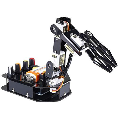 Sunfounder Kit per Costruzione Braccio Robotico a 4 Assi con Controller per Arduino Uno R3