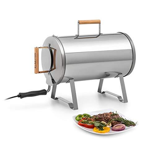 KLARSTEIN Gourmet Barrel Smoker - Affumicatore, Materiale: Acciaio Inox Spesso 0,6 mm, Manici...