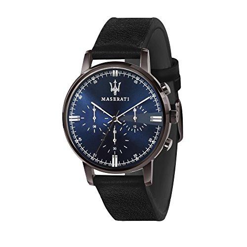 MASERATI Orologio Cronografo Quarzo Uomo con Cinturino in Pelle R8871630002