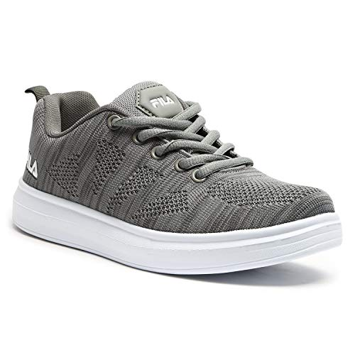 Fila Unisex Kid's TASS Gry/Wht Sneakers-4 UK (20 EU) (5 US) (11006994)