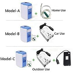 LIQICAI Portátil Concentrador de oxígeno Purificador de aire Continuo Oxígeno, 1-5L / min Ajustable, Casa/ Coche/ Al aire libre 3 Modelo Disponible ( Color : Model-C )