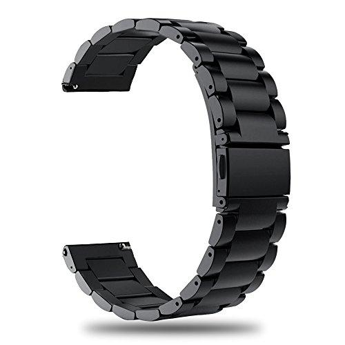 TRUMiRR 20mm Cinturino dell'Acciaio Inossidabile Cinturino a sgancio rapido per Garmin Vivoactive 3, Samsung Gear Sport, Huawei Watch 2 (Sport), Ticwatch 2/E, Samsung Gear S2 Classic, Moto 360 2 42mm