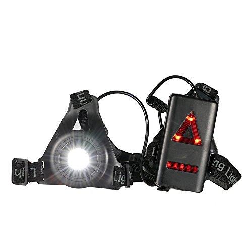 Docooler Running Light Outdoor Torace a LED Ricaricabile Night Running Light Torcia con Bardella...