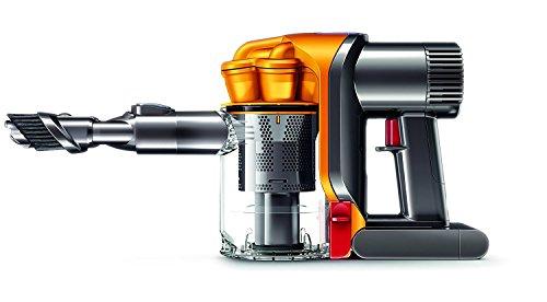 Dyson DC43H - Aspiradora de mano con 2 modos de aspiración, 200 W de potencia, 28/65 W de succión, capacidad del cubo 0,35 l, color amarillo [Modelo 2014]