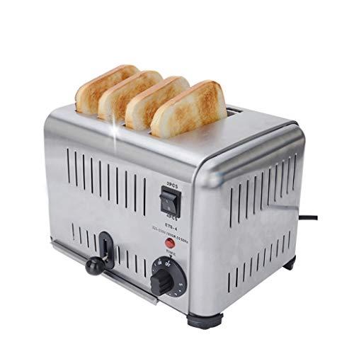 Forno per Toast da Colazione Allargato Ed Esteso A Doppia Vasca, 4 Tostapane, 5 Bancali E Vassoio...