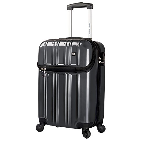 Nasher Miles New York 4 Wheel 51 cm/20 Inch ABS & PC Hard Sided Cabin Luggage - Trolley Bag (Grey)