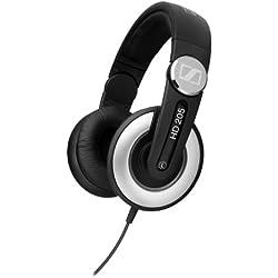 Sennheiser HD 205-II Negro, Plata Supraaural auricular - Auriculares (Supraaural, Alámbrico, 14-20000 Hz, 32 Ω, 3 m, Negro, Plata)