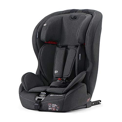 Kinderkraft Seggiolino Auto Safety Fix con Isofix Top Tether per Bambini Gruppo I/II/Iii (9-36 Kg) Regolazione Poggiatesta a 10 Livelli Certificato ECE R44/04 Nero