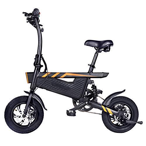 Bicicletas electricas, Bicicletas electricas Plegables,Bicicletas Plegables Adulto,1 Unids Bicicleta Plegable Bicicleta Doble Frenos de Disco Sillín Ajustable para Ciclismo (Negro)