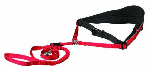 Trixie Cinturón Acolchado Canicross, Manos libres, Rojo